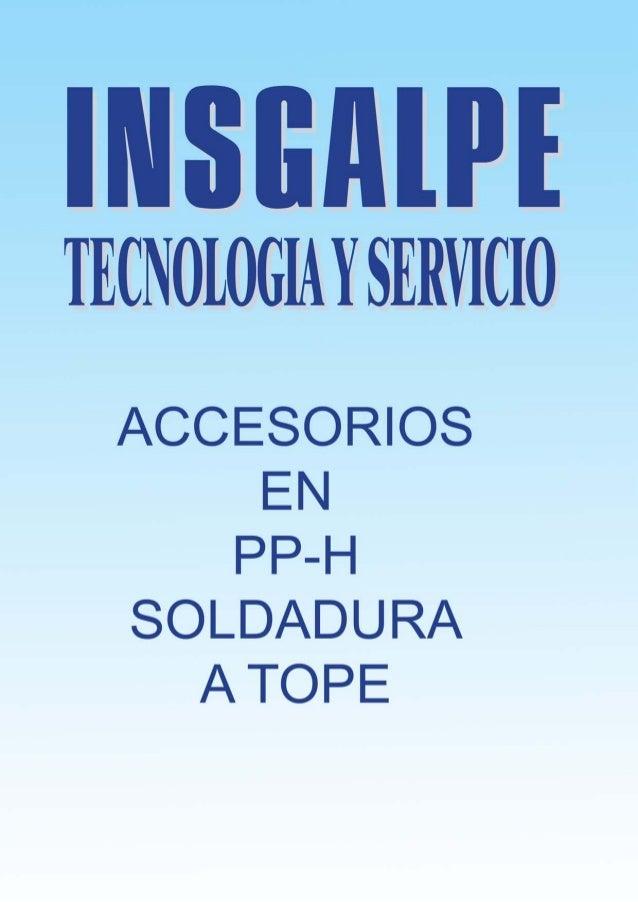 Catálogo soldadura tope
