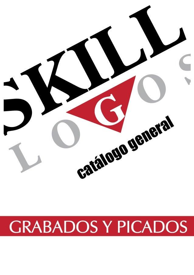 catálogo general GRABADOS Y PICADOS