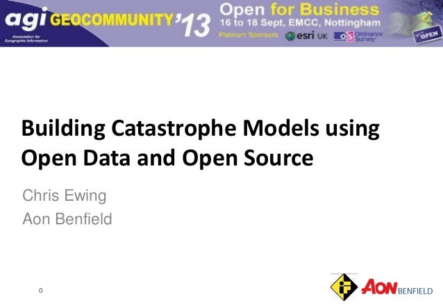 0 Building Catastrophe Models using Open Data and Open Source Chris Ewing Aon Benfield