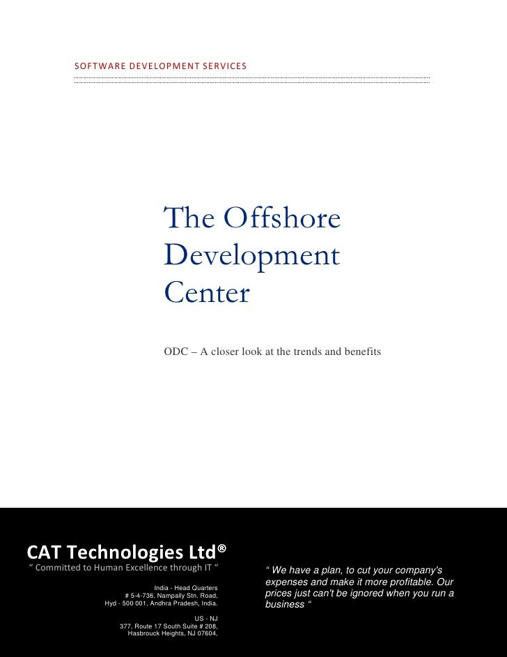 SOFTWARE  DEVELOPMENT  SERVICES                                            The Offshore                               ...
