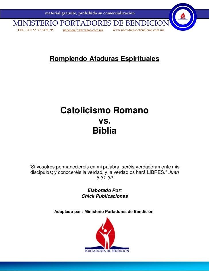 material gratuito, prohibida su comercializaciónMINISTERIO PORTADORES DE BENDICION TEL. (O1) 55 57 84 90 95       pdbendic...