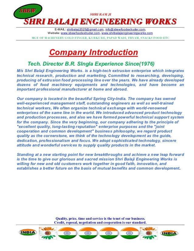 SBEW SBEW                                            SHRI RAM JI   SHRI BALAJI ENGINEERING WORKS                   E-MAIL:...