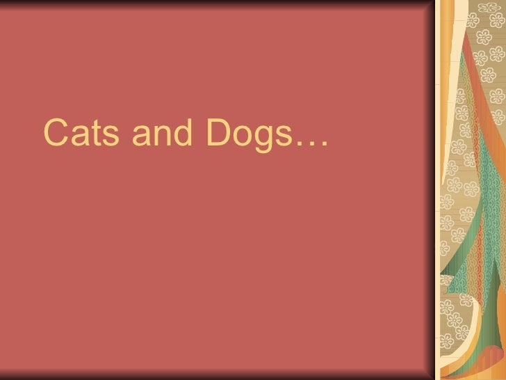 Cats and Dogs…