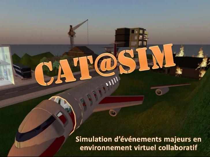 Cat@siM<br />Simulation d'événements majeurs en environnement virtuel collaboratif<br />