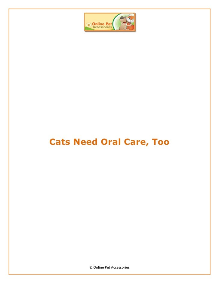 Cats Need Oral Care, Too       © Online Pet Accessories