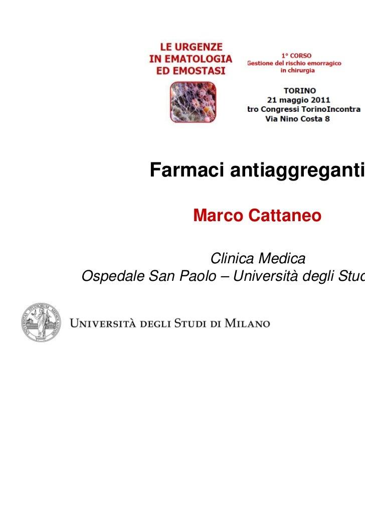 Cattaneo le urgenze in ematologia 21 maggio 2011
