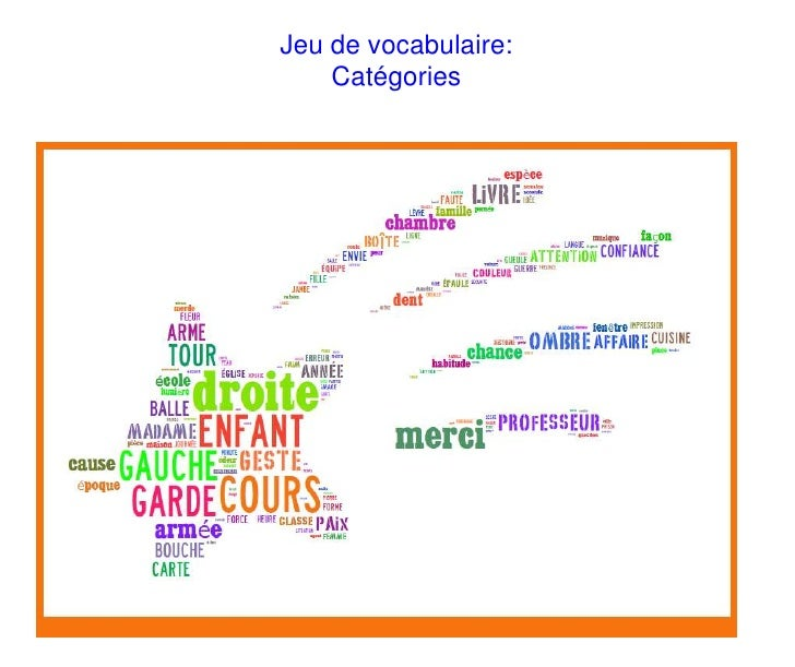 Jeu de vocabulaire:    Catégories