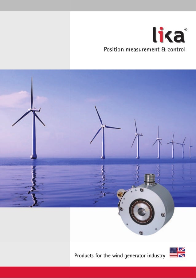 Lika products catalogue for wind generator industry - English version