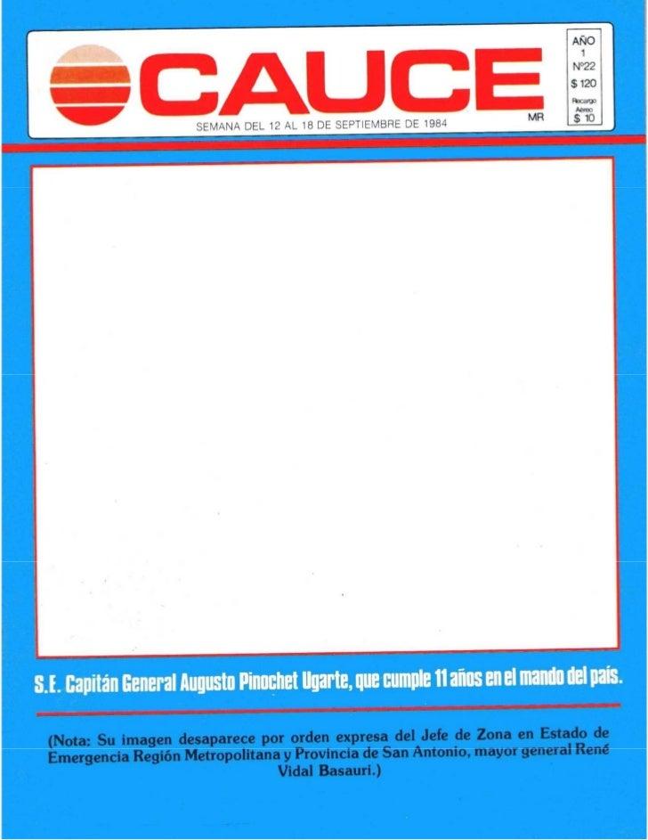 Revista CAUCE (N° 22 del 12 de septiembre de 1984)