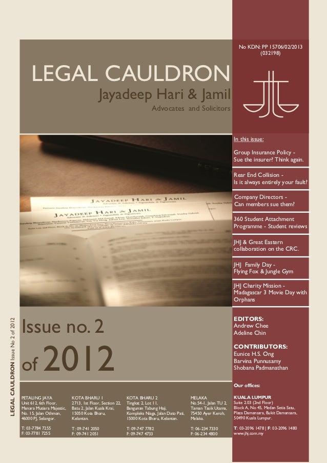 Legal Cauldron issue 2 of 2012