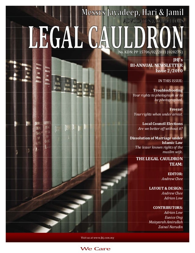 Legal Cauldron issue 2 of 2010