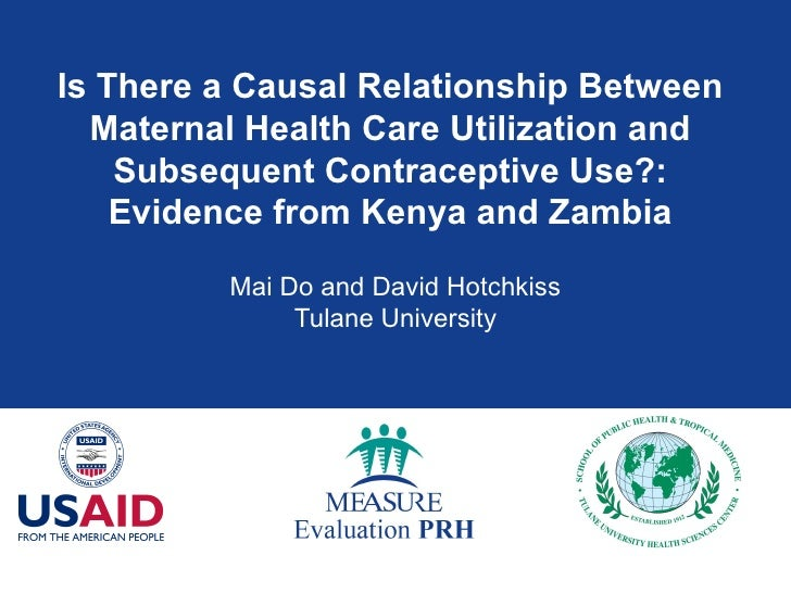 Is There a Causal Relationship Between Maternal Health Care Utilization and Subsequent Contraceptive Use?: Evidence from K...