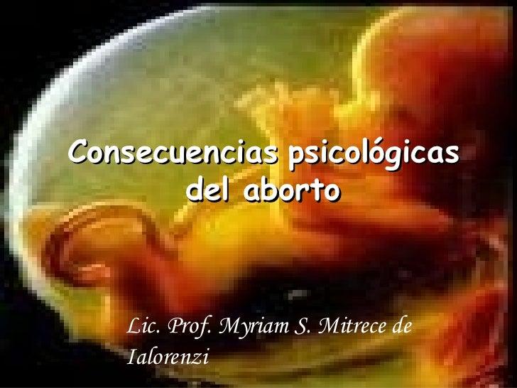 Causas y consecuencias psicológicas del aborto