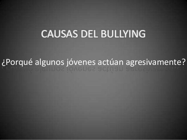 Causas del bulliyng23