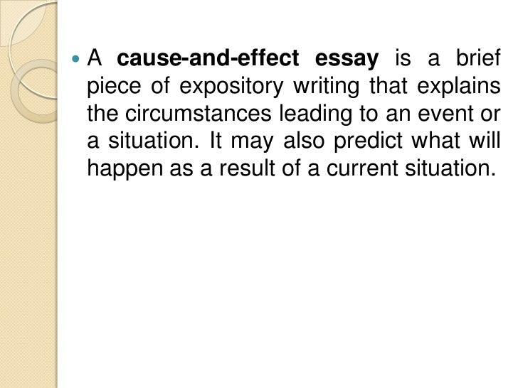 topics for writing a cause and effect essay