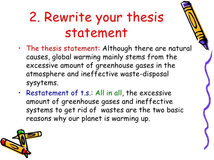 nature and purpose of thesis statement