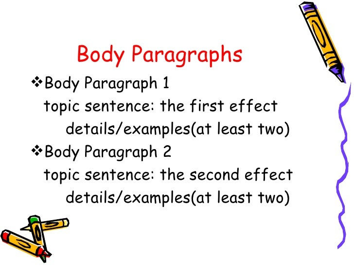 topics on cause and effect essays