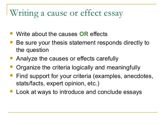 Best Topics for Cause and Effect Essay - EssayInfo