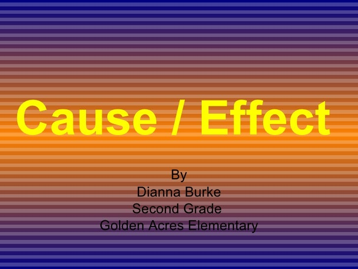 Causeand Effect