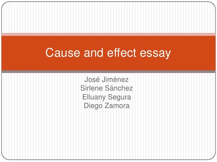 Essay outline of cause and effect | Welcome to JRS