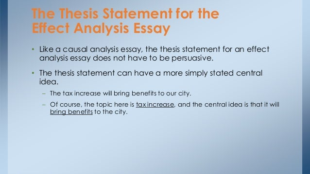Help with a thesis statement for a cause effect essay?