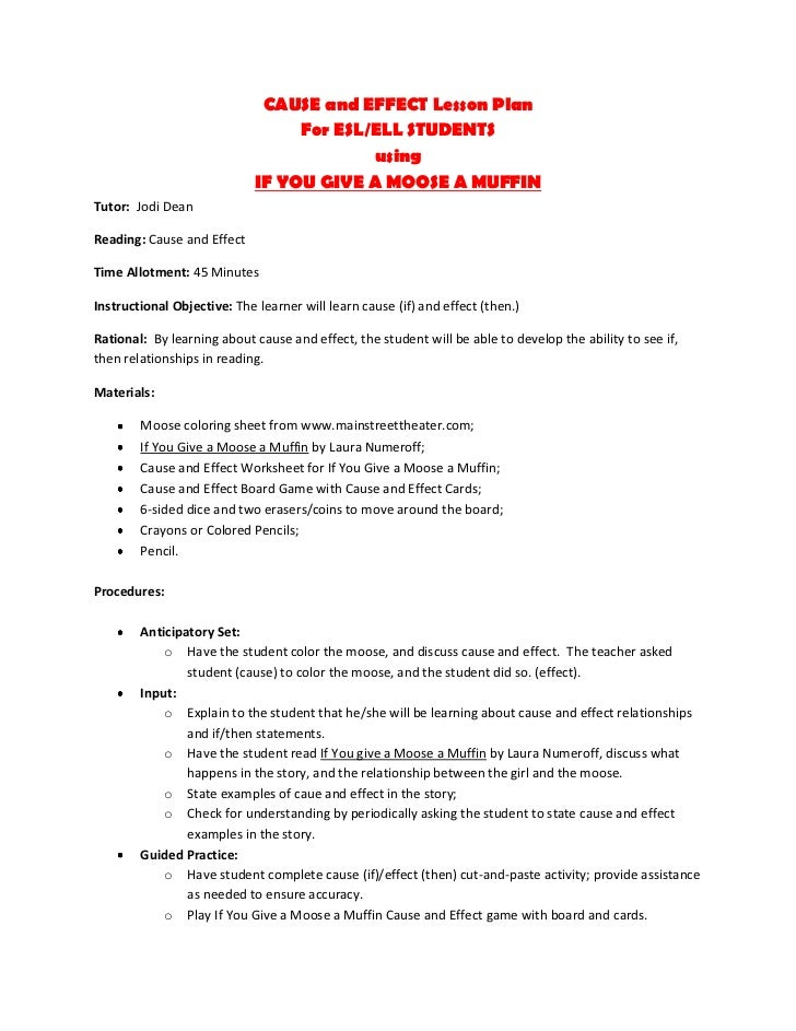 cause and effect essay lesson plan Lesson plan about causeyouand effect a personal essay, lesson plan about cause and effect, or prepare to write this kind of and for the first time.