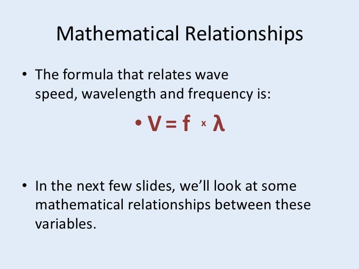 Frequency Wavelength Wave Speed Equation images