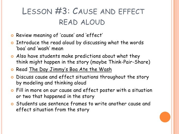 Define Cause And Effect Essay