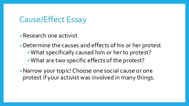 some cause and effect essay questions