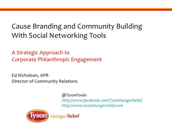 Cause Branding and Community Building With Social Networking Tools