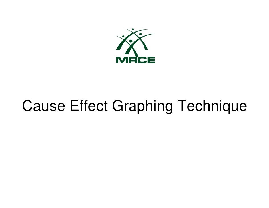 Cause Effect Graphing Technique