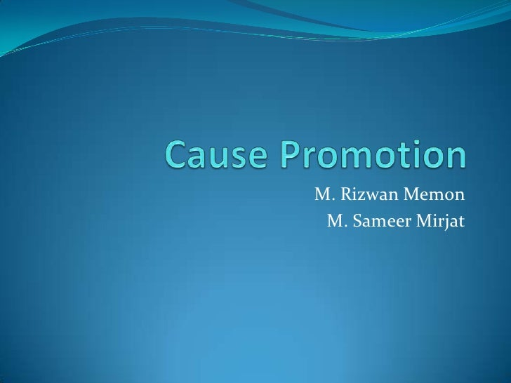 Cause promotion