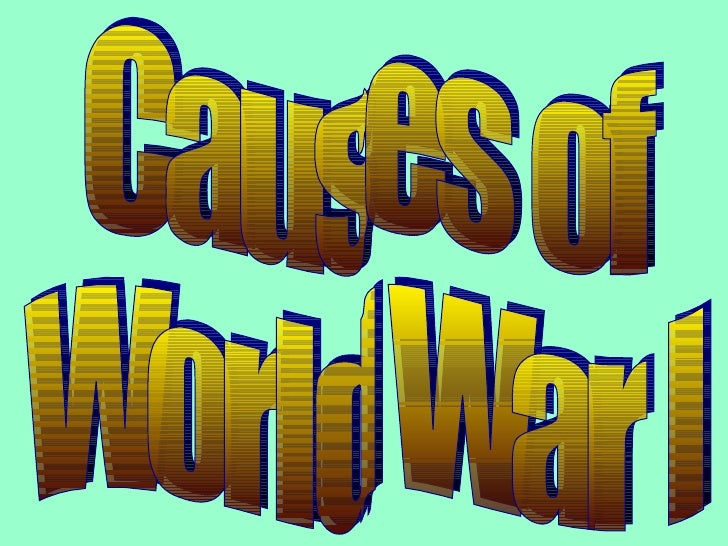 Dec. 1 Notes (Causes of WWI)