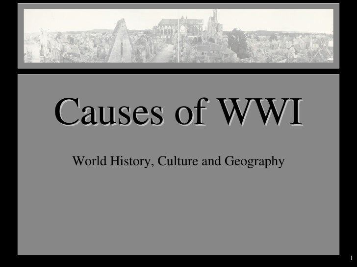 the causes of wwi Causes of ww1 extracts from this document introduction why did ww1 break out in 1914 world war one was a war between the major powers the causes of world war 1.