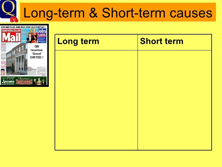 long and short term causes of 1 section 89: long-term and short-term changes in climate − the earth's climate changes (naturally) − changes due to various factors: - if earth's surface and atmosphere absorb sun's energy differently.