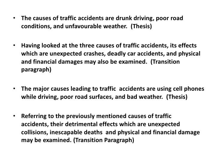 essay traffic problems