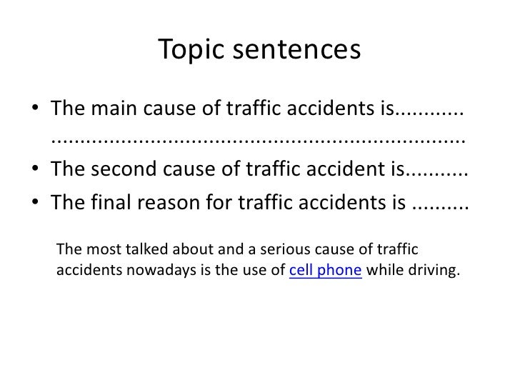 causes of accidents essay Car accidents can happen to drivers anytime,  using cell phones while driving causes car accidents  this essay 12 pg long,.