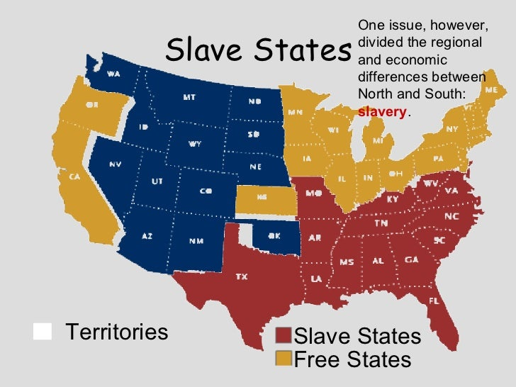 an analysis of slavery in united states northern and southern Historical background on antislavery between the southern states whose economies were heavily dependent on slavery and northern states where slavery was.