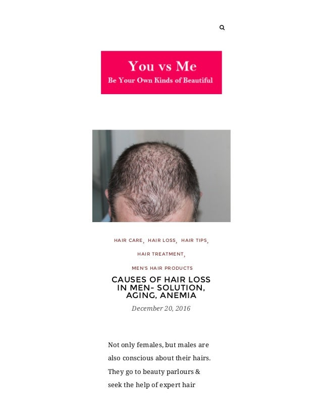Cause Of Hair Loss In Men