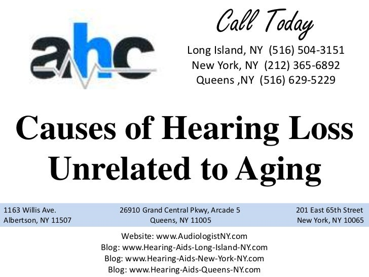 Causes of Hearing Loss Unrelated to Aging