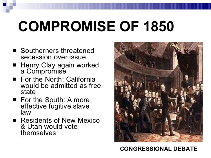 What are the anti-slavery arguments of the the missouri compromise and the compromise of 1850?