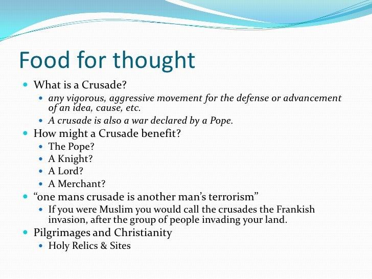 reasons of the unjustified crusades essay