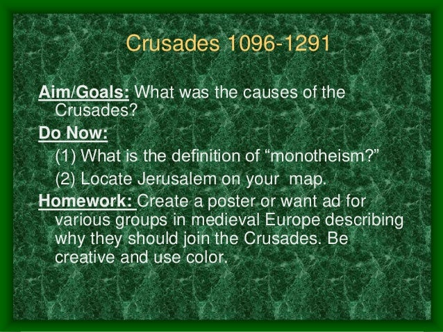 Causes of the_crusades