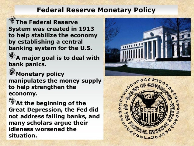 federal reserve system and monetary policy essay Federal reserve interest rates essay b pages:  we will write a custom essay sample on federal reserve interest rates  us federal reserve monetary policy.