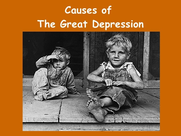 Causes Of The Great Depressiona