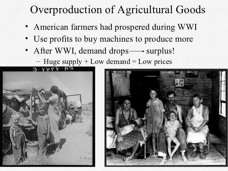 the factors that bring about the great depression in america 23 the great depression some state legislatures made it a crime to bring poor migrants into the state and allowed local the great depression: america.