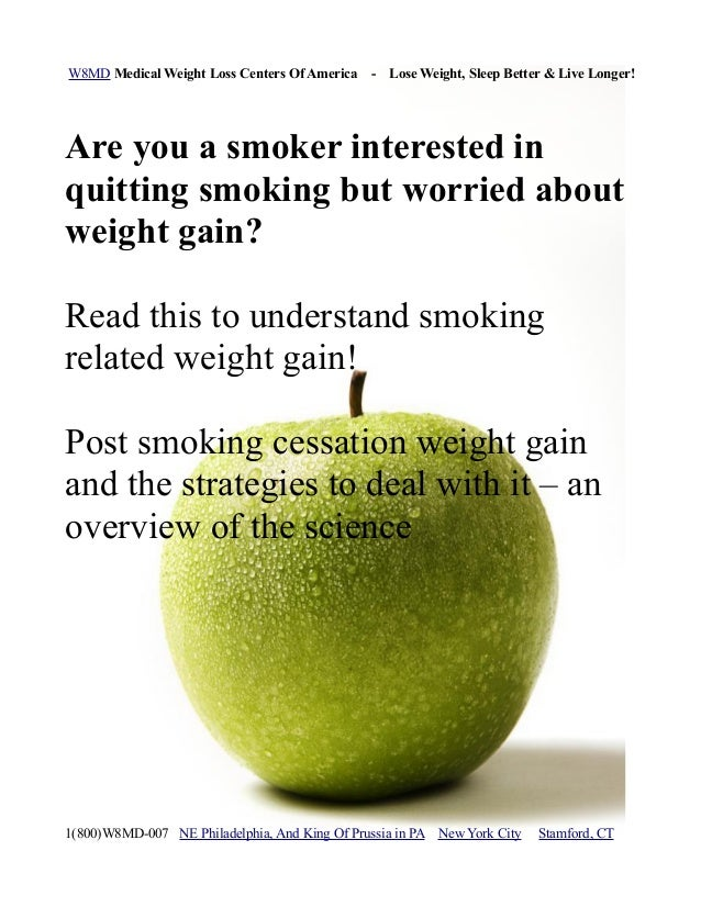 Causes of weight gain after quitting smoking and strategies to deal w ...
