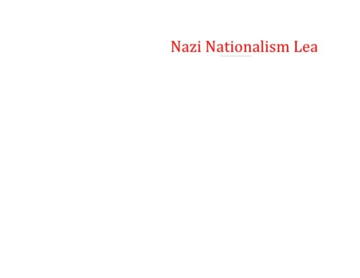 Nazi Nationalism Leading to