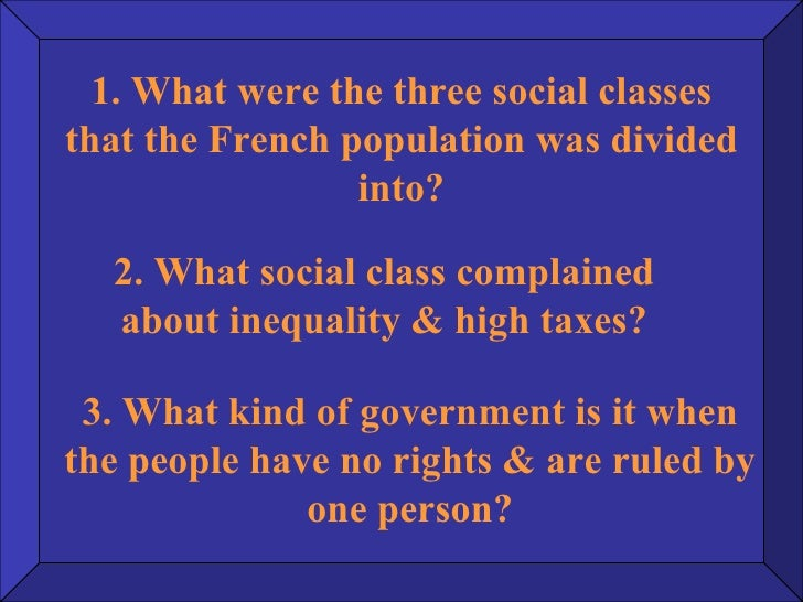 the french revolution social classes The french revolution traces the history of france during this epoch students explore france's political and social organization, its competition for empire, its financial crises, and the.