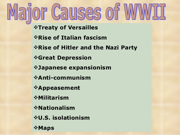 the causes of the world war ii Links long and short-term causes - an excellent resource from history learning more ideas the great depression as a cause of war.
